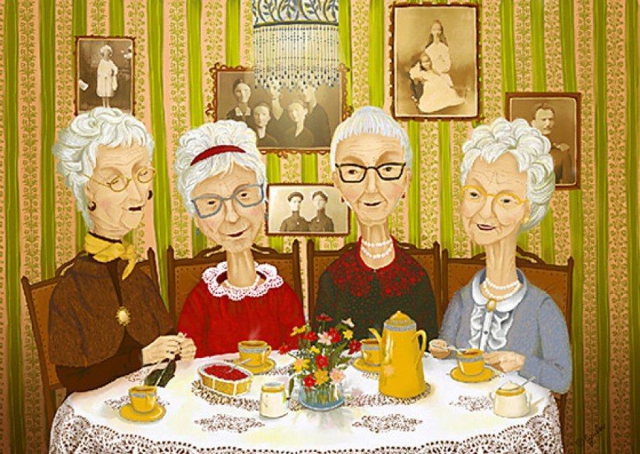 Картинки с днем бабушек смешные